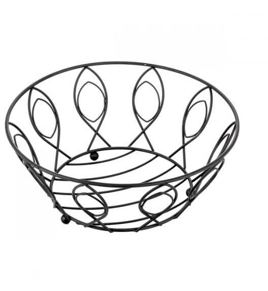 TADAR LISTEK Kosz na owoce / czarny / 28 x 11,5 cm / metal
