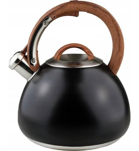 BRUNBESTE 1398 Czajnik z gwizdkiem 2,7 L / czarny / stal nierdzewna, tworzywo sztuczne