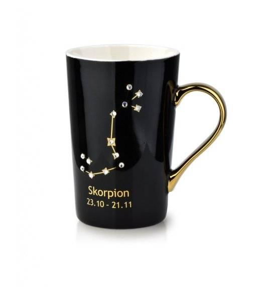 AFFEKDESIGN ZODIAK Kubek skorpion / 430 ml / czarny, złoty / porcelana