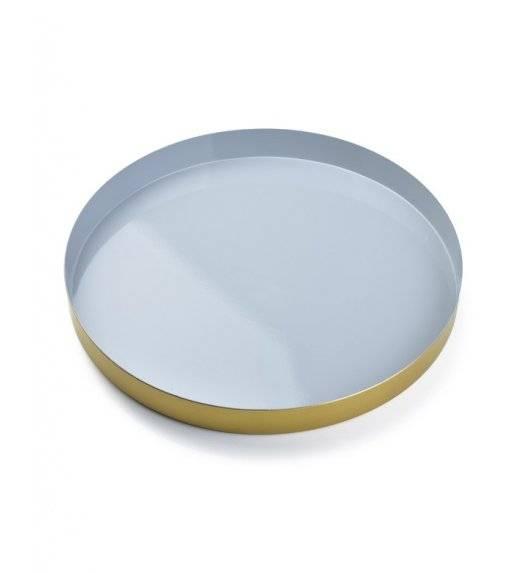 MONDEX ANISHA Taca dekoracyjna / szary, złoty / 30 x 3 cm / metal