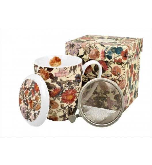 DUO FLORAL DREAM Kubek z zaparzaczem / 380 ml / porcelana