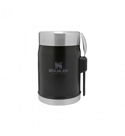 STANLEY CLASSIC Termos obiadowy ze sztućcem 400 ml / czarny / stal nierdzewna, tworzywo sztuczne