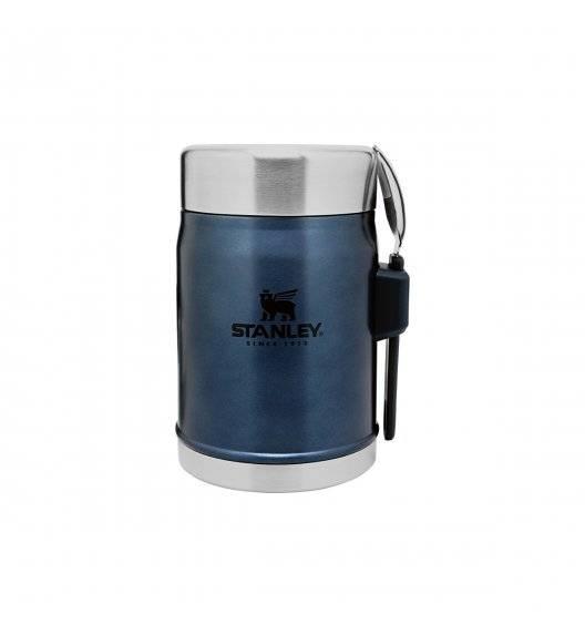 STANLEY CLASSIC Termos obiadowy ze sztućcem 400 ml / niebieski / stal nierdzewna, tworzywo sztuczne