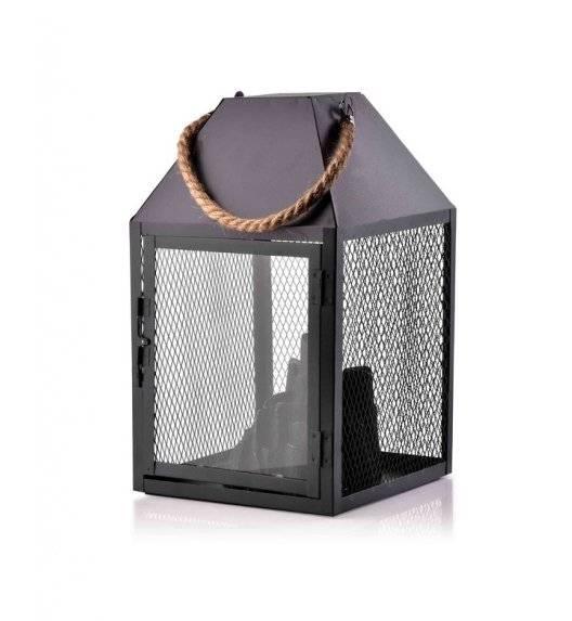 MONDEX KANVAR Lampion kominek LED / 17 x 17 x 30 cm / metal, szkło