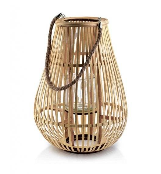 MONDEX LUCIE NATURAL Lampion / 33 x 46 cm / drewno, szkło