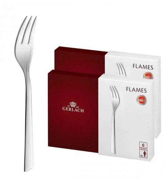 Gerlach Flames Sztućce Widelczyk do ciast 12 el pudełko / 12 osób / połysk