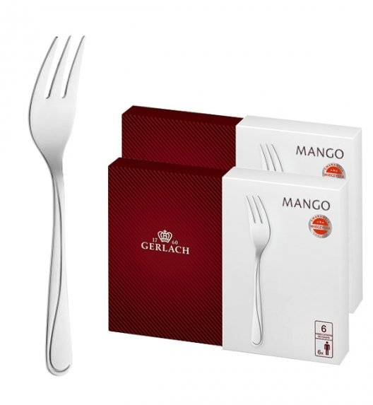 Gerlach Mango Sztućce Widelczyki do ciast 12 el pudełko / 12 osób / połysk