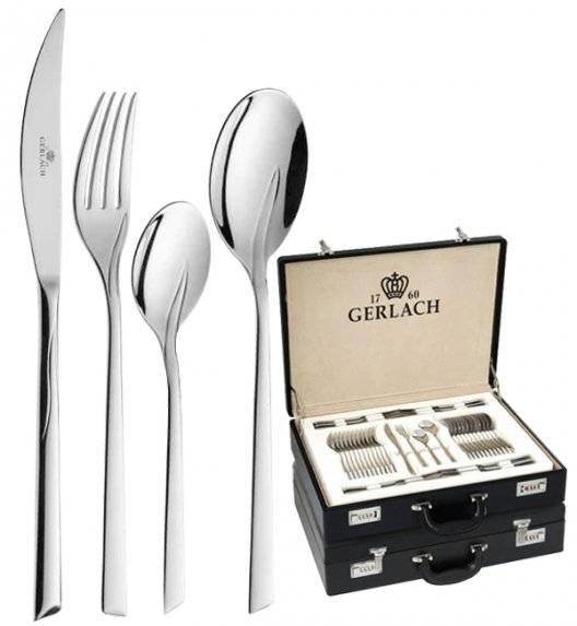Gerlach Flames Sztućce Komplet 136 el walizka / 24 osoby / połysk