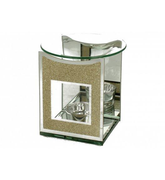 WYPRZEDAŻ! DUO GOLD GLITTER Kominek zapachowy szklany 12 cm / Złoto