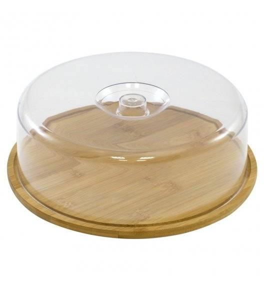 TADAR Okrągła deska z kloszem ⌀ 28 cm / drewno bambusowe