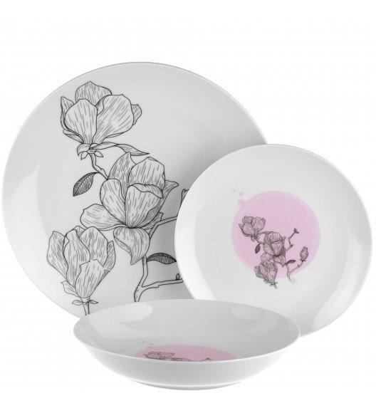 TADAR CATALEYA Serwis obiadowy 54 elementy dla 18 osób / porcelana