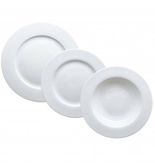 TADAR EVELYN SUPER WHITE Serwis obiadowy 72 elementy dla 24 osób / porcelana