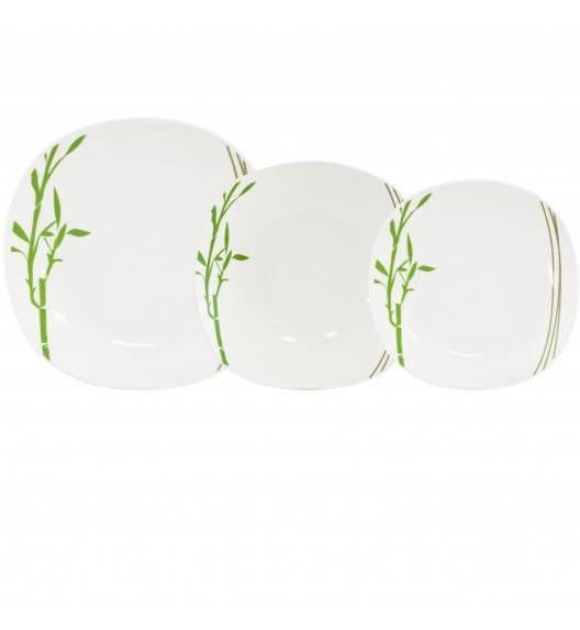 TADAR BAMBUS Serwis obiadowy 18 elementów dla 6 osób / porcelana