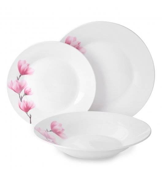 TADAR MAGNOLIA Serwis obiadowy 18 elementów dla 6 osób / porcelana