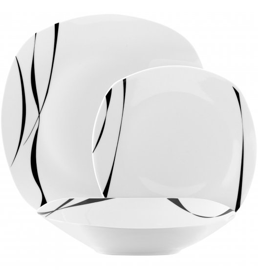 TADAR SAXO Serwis obiadowy 54 elementy dla 18 osób / porcelana