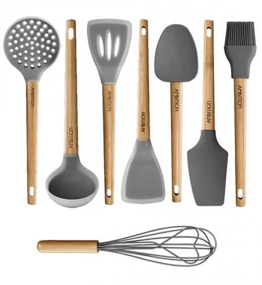 AMBITION NORDIC Komplet przyborów kuchennych / 8 elementów / bambus, tworzywo sztuczne
