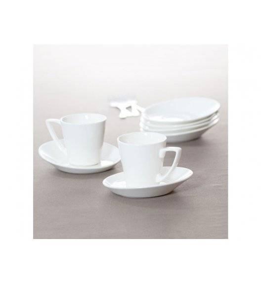 AMBITION FALA / KUBIKO Komplet kawowy 12 elementów dla 12 osób / porcelana / 94634
