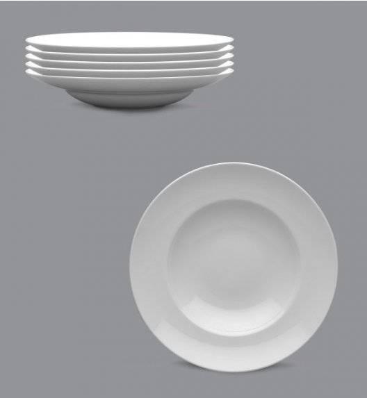 LUBIANA KASZUB Komplet talerze głębokie do pasty / makaronu 24 cm / 6 osób / 6 el / porcelana