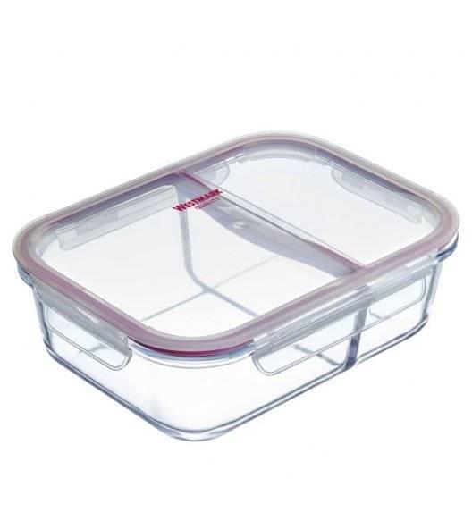 WESTMARK Pojemnik do przechowywania żywności z przegrodami / 1380 ml / szkło, tworzywo sztuczne