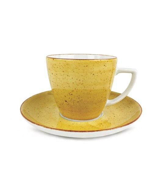 LUBIANA BOSS 6630J Filiżanka 350 ml + spodek / żółty / porcelana ręcznie malowana