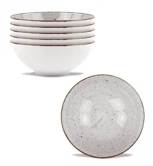 LUBIANA BOSS 6630Z Komplet salaterek 15 cm / 6 os / 6 el / szara / porcelana ręcznie malowana