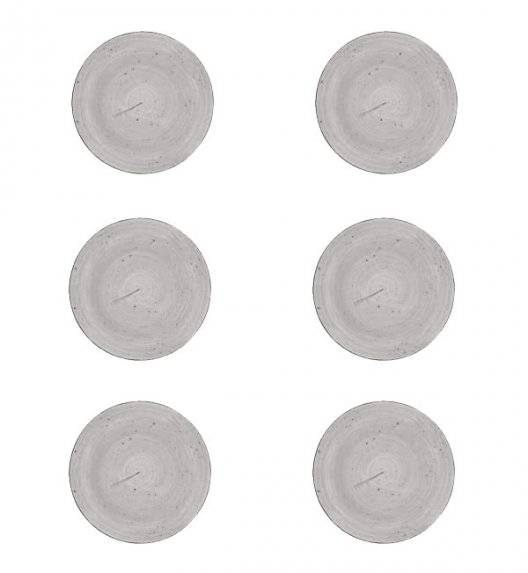 LUBIANA BOSS 6630Z Zestaw 6 talerzy deserowych 20,5 cm / szary / porcelana ręcznie malowana