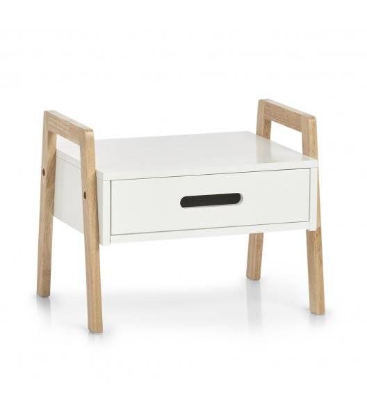 ZELLER Stolik / szafka 40,5 x 30,5 x 32,5 cm / drewno + płyta MDF