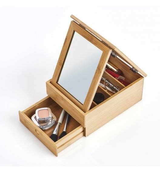 ZELLER Pudełko / organizer na drobiazgi / drewno bambusowe