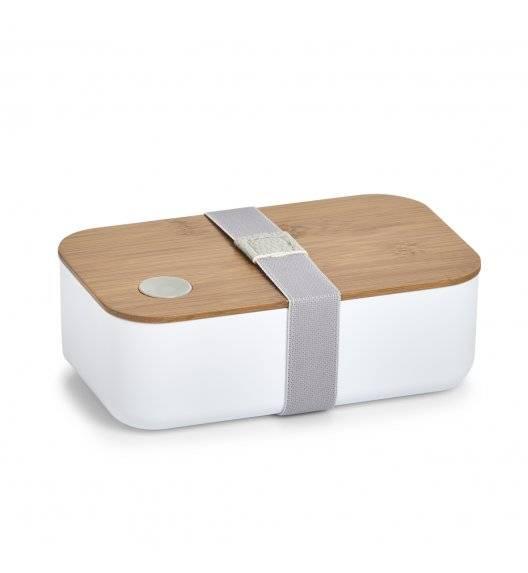 ZELLER Pojemnik na lunch 19,3 x 11,8 cm / biały / bambus + tworzywo sztuczne