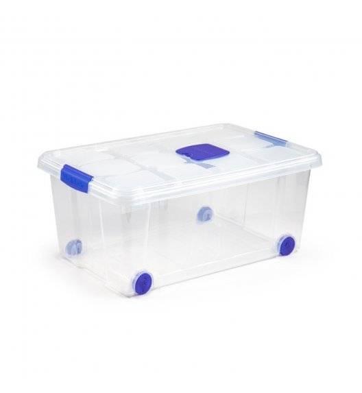 PLASTIC FORTE Pojemnik do przechowywania na kółkach 36 L / transparentny / tworzywo sztuczne