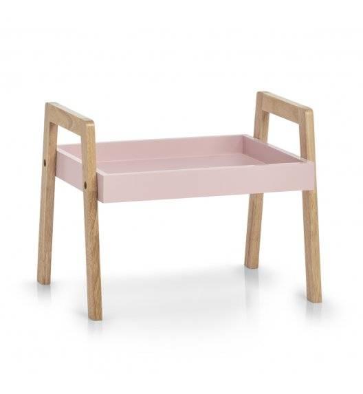ZELLER Stolik / szafka 40,5 x 30,5 x 32,5 cm / różowy / drewno + płyta MDF