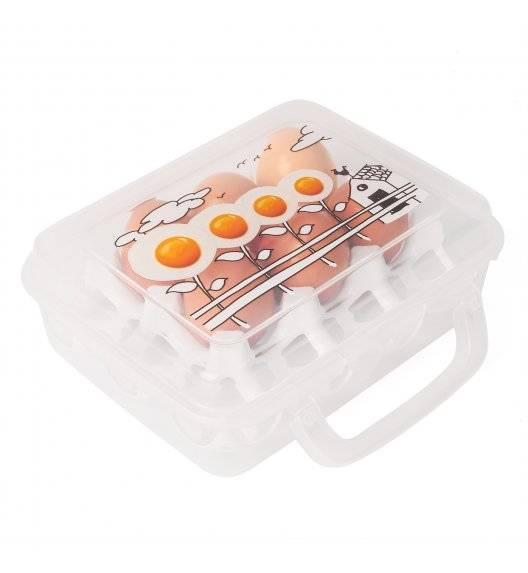 HEGA Pojemnik, wytłoczka do przechowywania 12 jajek / transparentny