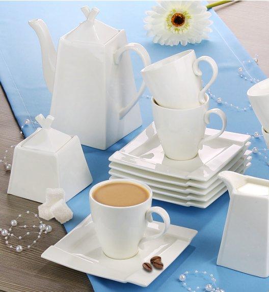 AMBITION KUBIKO Komplet kawowy 34 elementów dla 12 osób / porcelana