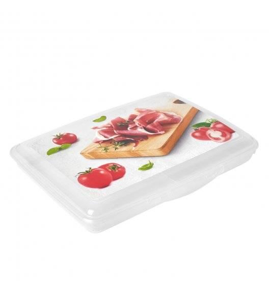 HEGA Pojemnik płaski z pokrywką na żywność / 17 x 24 cm / transparentny