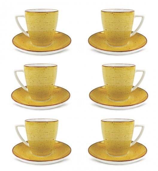 LUBIANA BOSS 6630J Filiżanka 200 ml + spodek / 6 os / 12 el / żółty / porcelana ręcznie malowana
