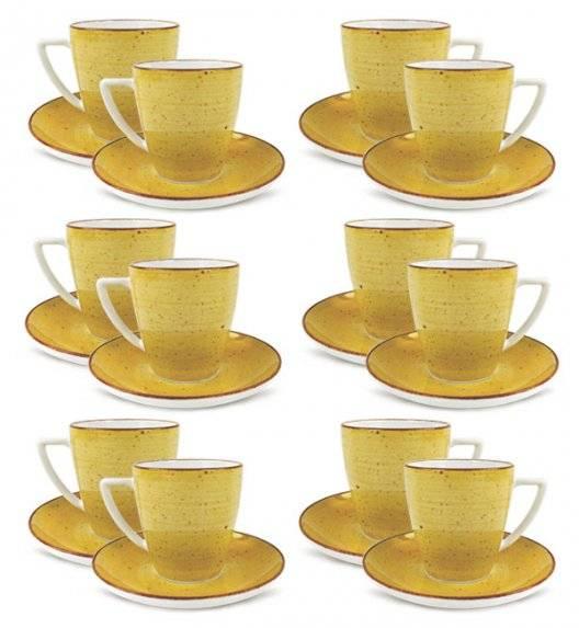 LUBIANA BOSS 6630J Filiżanka 200 ml + spodek / 12 os / 24 el / żółty / porcelana ręcznie malowana