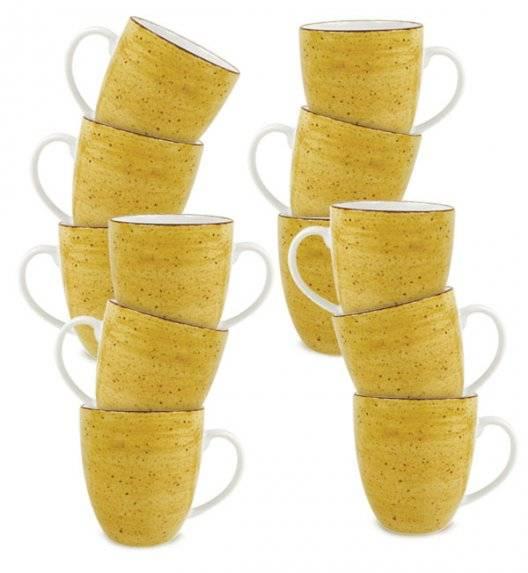 LUBIANA BOSS 6630J Kubek 380 ml / 12 os / 12 el / żółty / porcelana ręcznie malowana