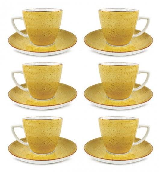LUBIANA BOSS 6630J Filiżanka 350 ml + spodek / 6 os / 12 el / żółty / porcelana ręcznie malowana