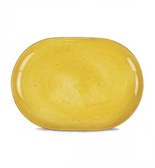 LUBIANA BOSS 6630J Półmis 33 cm / żółty / porcelana ręcznie malowana