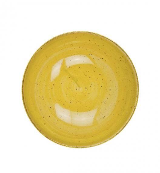 LUBIANA BOSS 6630J Salaterka 21 cm / żółta / porcelana ręcznie malowana