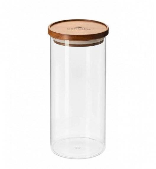 GERLACH COUNTRY Szklany pojemnik na żywność / akacjowa pokrywka 1,25 l