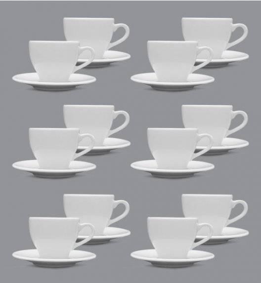 LUBIANA PAULA Komplet filiżanka do espresso 70 ml + spodek 12 cm / 12 os / 24 el / porcelana