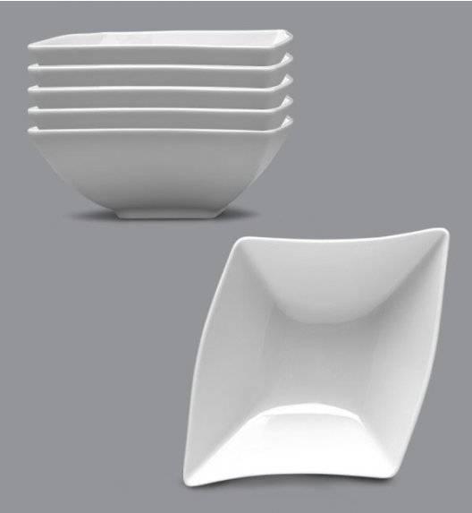 LUBIANA WING Komplet Salaterka / miska 18 cm / 6 el / 6 os / porcelana