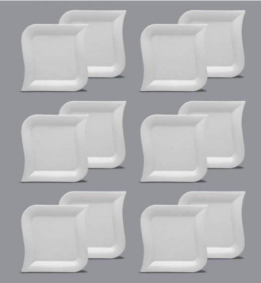 LUBIANA OPERA Komplet talerz obiadowy 27 cm / 12 el / 12 os / porcelana