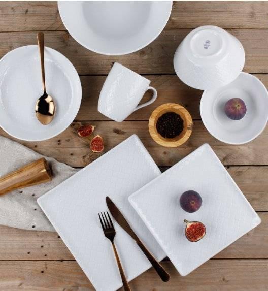 LUBIANA MARRAKESZ Komplet obiadowy 24 os 102 el / kwadratowy / porcelana
