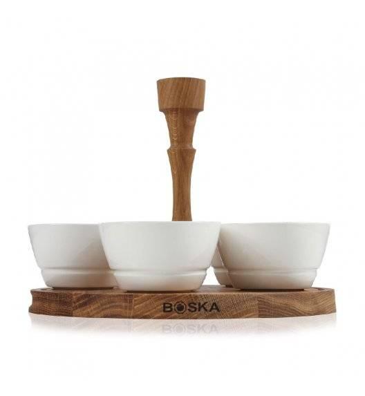 BOSKA FRIENDS Deska do serwowania przekąsek z miseczkami Ø 26 cm / drewno dębowe / LENA