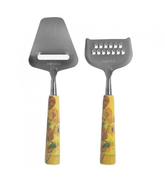 BOSKA Mini nóż do sera łopatka + tarka krótka Van Gogh