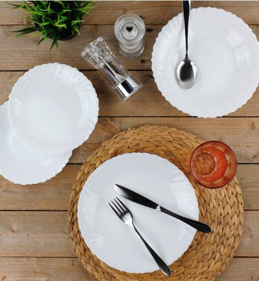 PROMOCJA! LUMINARC F-N Komplet obiadowy 72 el dla 24 os / szkło hartowane / 10725