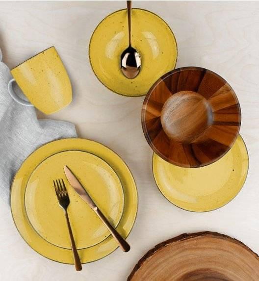 LUBIANA BOSS 6630J Serwis obiadowy 24 el / 6 osób / żółty / porcelana ręcznie malowana