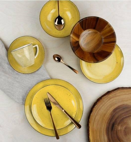 LUBIANA BOSS 6630J Serwis obiadowo - kawowy 76 el / 12 osób / żółty / porcelana ręcznie malowana